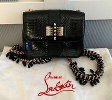 CHRISTIAN LOUBOUTIN Sweet Charity BLACK Mini Watersnake Backpack Bag