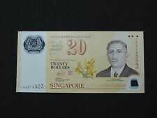 1967-2007 20 DOLLARS SINGAPORE BANK NOTE CURRENCY INTERCHANGEABILITY BRUNEI AU