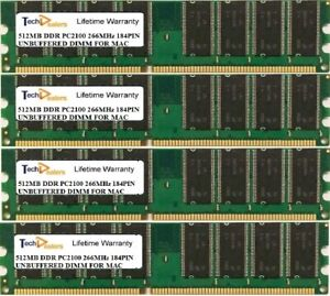 2GB (4X 512MB) PC2100 266MHz 184PIN MEMORY RAM FOR  APPLE XSERVE G4 1,1 RACKMAC