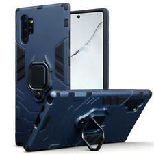 Shock Resistant Slim Armour Case with Stand for Galaxy Note 10 Plus - Dark Blue