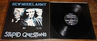 "NEW MODEL ARMY ~ STUPID QUESTIONS ~ UK LIMITED POSTER SLEEVE 12"" 1989"