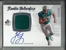 Jake Long 2008 SP Authentic Autograph Game Jersey Patch Rookie #474/999