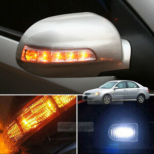 2Way LED Side Mirror Turn Signal Light Repeater Cover For KIA 2003-2008 Cerato