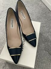 L.KBennett Shoes Navy 39/6  High Shine Lizard