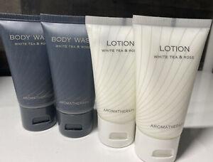 Body Wash Lotion Travel Size Venetian Palazzo White Tea & Rose New Lot of 4