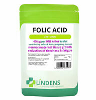 Folic Acid 400mcg, 240 tablets -folacin, vitamin B-9 conception, pregnancy, skin