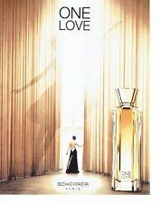 PUBLICITE ADVERTISING 126  2015  parfum femme ONE LOVE  par Scherrer