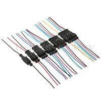 1/2/3/4/5/6 Pins Kit Connecteur électrique Prise Etanche w/10cm Fil Voiture Moto