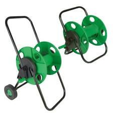 More details for 60m garden hose reel trolley portable water pipe free standing wall mountable uk