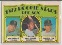 1972 O-Pee-Chee Mike Garman/Cecil Cooper/Carlton Fisk #79