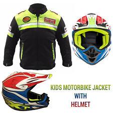New Kids Childrens Cub Flite Xtra Motocross MX Bike Quad Helmet Motorbike Jacket
