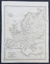 1797 John Cary Original Antique Map of Europe