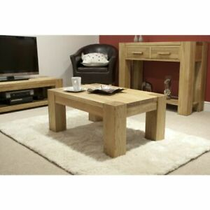 Trend Solid Oak Furniture Small Coffee Table
