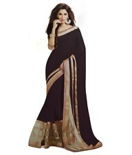 Veeraa Saree Exclusive Beautiful Designer Bollywood Indian Partywear Sari 181BLK