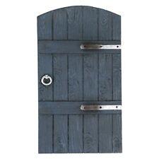 Grey Wood Effect Fairy /Gnome Door For Garden or Home