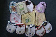 Mixed Baby Items: Bath Towels, Bibs, Curtain Sheer - Disney, Polo, Playskool