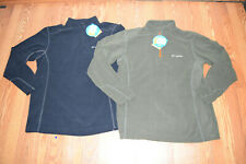 NWT Mens COLUMBIA Klamath Range Black Olive Half Zip Fleece Jacket M L XL 2XL