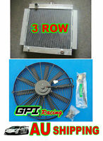 NEW 3Row Aluminum Radiator & FAN for Ford Escort Mk1 Mk2 RS2000 1968-1980 MT 79