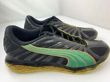 Puma Jamaica Running Men's Shoes Size 9.5 Black Green Yellow 184477-01