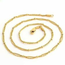 """Fashion Vintage Womens Yellow Gold Filled Chain Necklace Jewelry 17.5"""""""