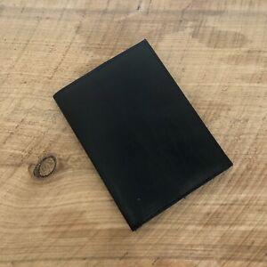 Black Genuine Leather Passport Cover Travel