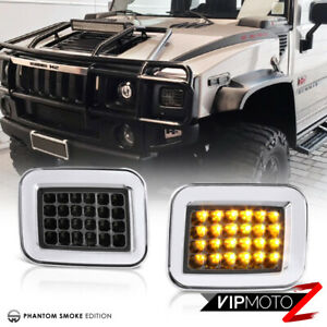 Smoke Amber LED SMD Brightest Corner Turn Signal Light Parking Lamp 03-09 Hummer