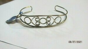 Sterling Silver  Bracelet Hand Crafted Cuff Style