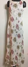 Reitmans Women Lace Floral Sleeveless Long Dress Size 3