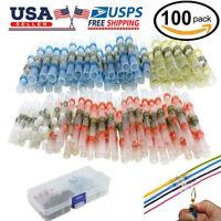 100pcs Solder Sleeve Heat Shrink Butt Wire Splice Waterproof Connector 26-10 AWG