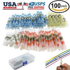 100PCS 26-10 AWG Solder Sleeve Heat Shrink Butt Wire Splice Connector Waterproof