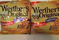 Werther's Original Sugar Free Caramel Hard Candy 1.46Oz. Bags Lot of 4  bags