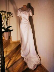 Brautkleid Gr. 44 ivory  neu mit Schleppe