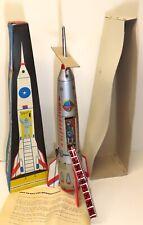Vintage Holdraketa Tin Friction Space Rocket w/Box   WORKS  Sci-Fi Toy