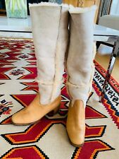 VINTAGE BALLY Switzerland 100%  SHEARLING BOHO BOOTS Ladies size 8