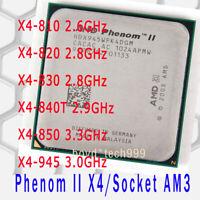 AMD Phenom II X4 810 X4 820 X4 830 X4 840T 850 X4 945 Socket AM3 CPU Processor