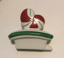 Department 56 Peppermint Shaped Teapot Coffee Pot Winter Christmas Holiday Lid