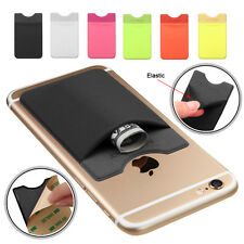 Adhesive Stick Back Cover Card Holder Pouch For iPhone Samsung Mobile Cell Phone