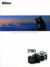 NIKON F80 - Brochure publicitaire - français -