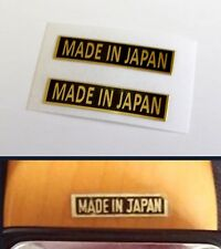 Made In Japan Decal Guitar Headstock Decal MIJ Teisco Ibanez Kawai 1960's toy