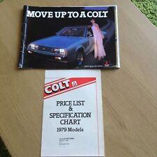 MITSUBISHI COLT FULL RANGE BROCHURE1979 PRICE SPECIFICATION LEAFLET