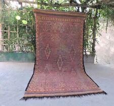 Rare Moroccan Rug Handmade Berber Talsint Wool Boujad Carpet 9,6 / 4,7 FEET