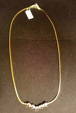 Gold Tone 18-Inch Chain Necklace With Five (5) Amethyst Stones,Feb,STUNNING