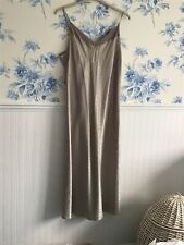 Womens Nightgown Negligee Silky Satin Coffee size 22