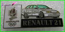 Pin's Jo Jeux Olympique Albertville 92 RENAULT Voiture Renault 21  #1777