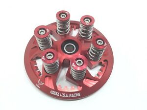 Ducati Dry Clutch Billet Pressure Plate Stainless Springs Caps Bolts Kit RED