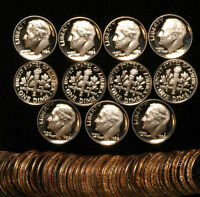 1984-S Proof Roosevelt Dime roll  ( 50 Proof coins )