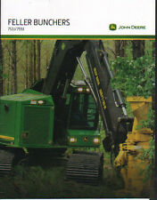 John Deere Logging Timber Forestry 753J & 759J Tracked Feller Buncher Brochure