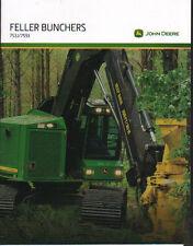 John Deere Logging Timber Forestry 753J & 759J Tracked Feller Buncher Brochure