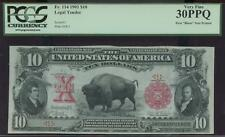 $10 1901 BISON FANCY SERIAL #1 THE FIRST BISON EVER PRINTED PCGS 30PPQ