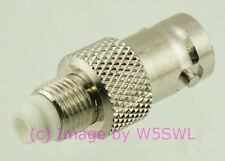 Coax Adapter FME Female to BNC Female - by W5SWL ®